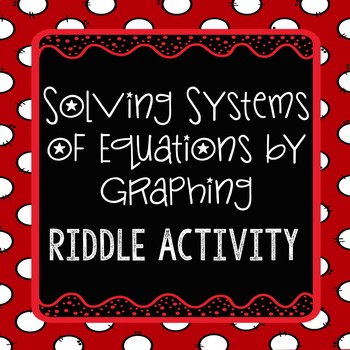 Systems of Equations {Graphing} - Riddle Activity