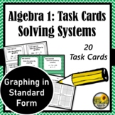 Systems of Equations Task Cards {Graphing in Standard Form} 8.EE.8
