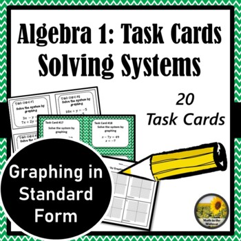 Systems Of Equations Task Cards Graphing In Standard Form 88