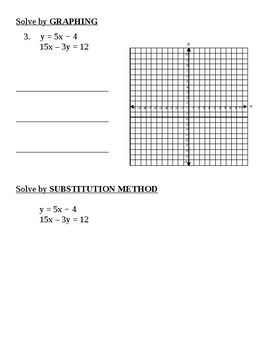 Systems of Equations:  Graphing and Substitution Methods