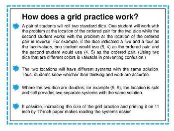 Systems of Equations Grid Practice