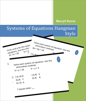 Systems of Equations Hangman Style