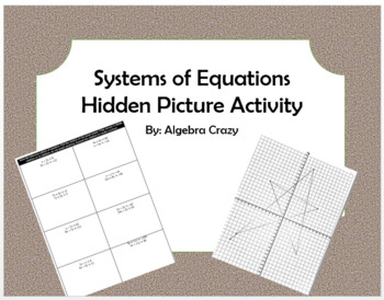 Graphing Systems of Equations Hidden Picture Activity