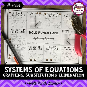 Systems of Equations Hole Punch Game