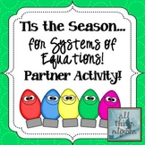 Systems of Equations Holiday Partner Coloring Activity