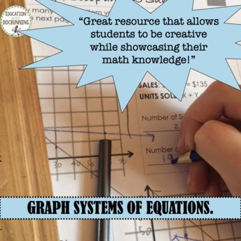 Systems of Equations Ice Cream Parlor Project Based Learning