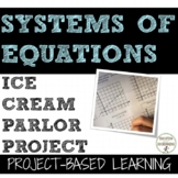 Systems of Equations Project Ice Cream Parlor Distance Learning
