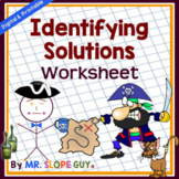 Systems of Equations Identifying Solutions Worksheet