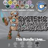 Systems of Equations & Inequalities -- Algebra Curriculum Unit Bundle