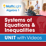 Systems of Equations & Inequalities   Unit with Videos   D