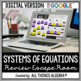 Systems of Equations & Inequalities Escape: DIGITAL VERSIO