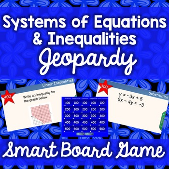 Systems of Equations & Inequalities Jeopardy