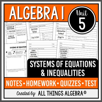 Systems of Equations (Algebra 1)