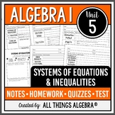 Systems of Equations and Inequalities (Algebra 1 - Unit 5) DISTANCE LEARNING