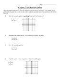 Systems of Equations & Inequalties Review Packet
