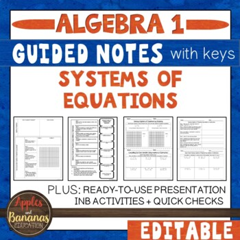 Systems of Equations - Interactive Notebook Activities
