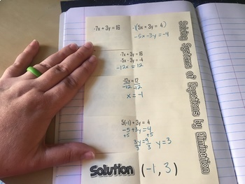 Systems of Equations Interactive Notebook