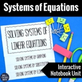 Systems of Equations Interactive Notebook Unit