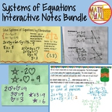 Systems of Equations Interactive Notes Bundle