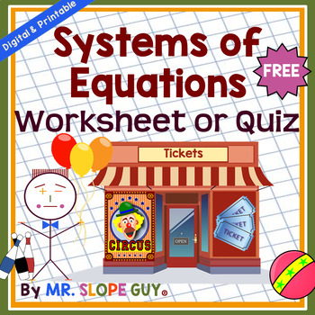 Systems of Equations Introduction (Assessment / Quiz)