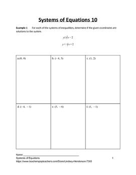 Systems of Equations Lesson 10 of 11