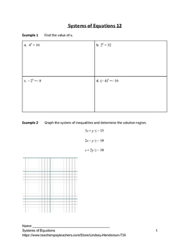 Systems of Equations Lesson 11 of 11