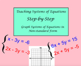 Systems of Equations Lesson 3-Graph Systems in Non Standard Form