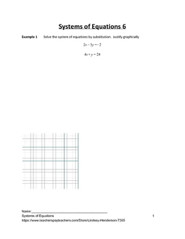 Systems of Equations Lesson 6 of 11