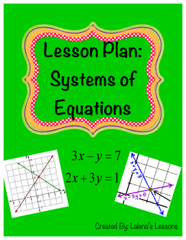 Systems of Equations Lesson Plan