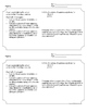 Systems of Equations-Lesson Plan, Activity Sheet, Exit Ticket and Homework