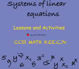 Systems of Equations - Lessons and Activities