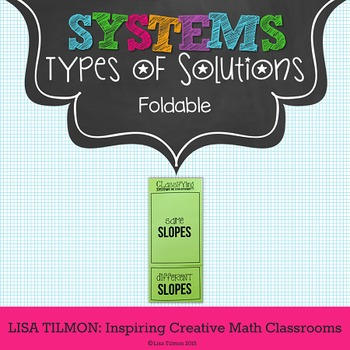 Systems of Equations {Linear} Types of Solutions Foldable