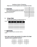 Systems of Equations- Linear and Quadratic Equations