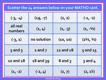Systems of Equations MATHO