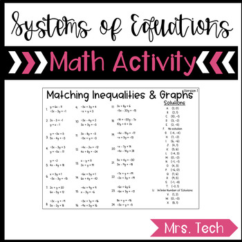 Systems of Equations Match Activity
