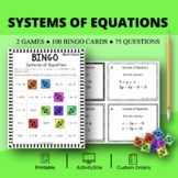 Systems of Equations Math Bingo Review Game