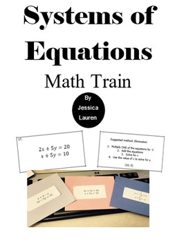 Systems of Equations Math Train