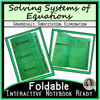 Systems of Equations Methods Foldable