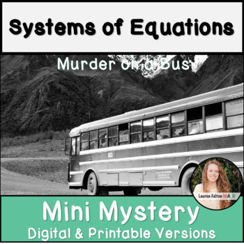 Systems of Equations Activity! Mini Mystery
