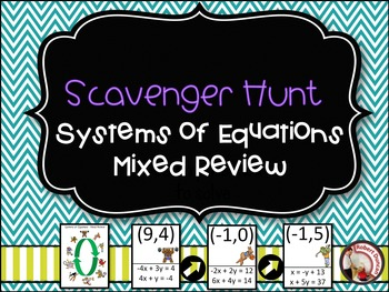 Systems of Equations - Mixed Review