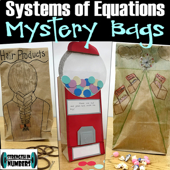 Systems of Equations Mystery Bag Project and Practice Word Problems