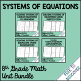 Systems of Equations Notes and Practice Bundle | Distance