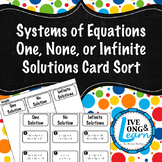 Systems of Equations - Special Cases - Card Sort