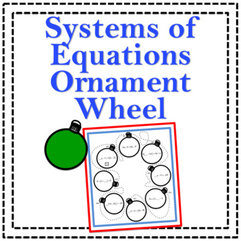 Systems of Equations Ornament Wheel