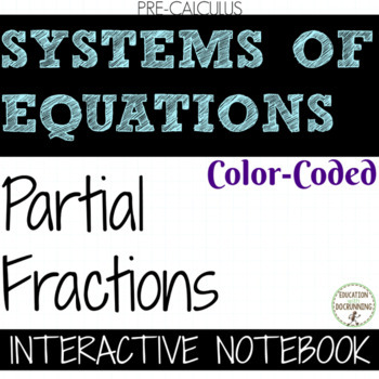 PreCalculus Systems of Equations Partial Fractions UPDATED