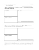 Systems of Equations- Partner Activity- Set 1