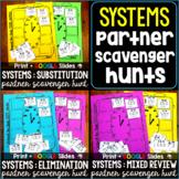 Systems of Equations Partner Scavenger Hunt Activities Bun