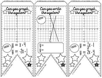 Systems of Equations Pennant {graphing}
