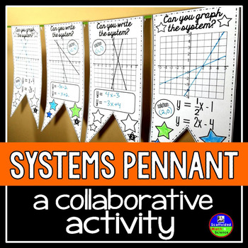 Systems of Equations Pennant Activity {graphing}