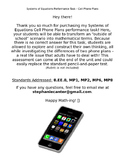 Systems of Equations Performance Task - Cell Phone Plans